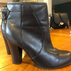 Liz &Co black leather booties